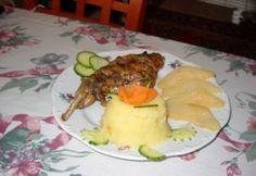 Fokhagymás nyúlcomb karamelizált körtével Beef, Food, Meat, Essen, Meals, Yemek, Eten, Steak