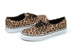 Vans - Leopard Authentic in Black / Brown