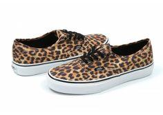 Vans - Leopard Authentic in Black / Brown