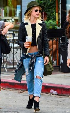 Julianne Hough Leather Jacket