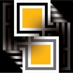 Paving Stone Patio, Paving Stones, Illusion Art, Op Art, Optical Illusions, Abstract Art, Projects To Try, Frame, Painting