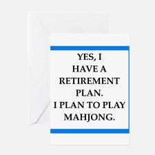 mahjong Greeting Cards for