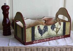 Короб `Петушки`. короб для уютной кухни  в стиле…