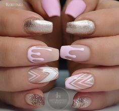 Get buffed nails Pink