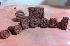easy directions for making your own stamps with clay