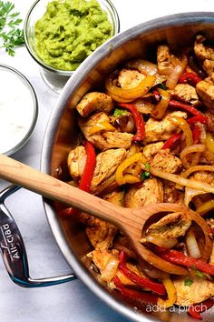 This Chicken Fajita recipe makes a quick, delicious meal perfect for a busy weeknight supper or a fun weekend meal!