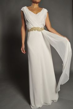 Vestido de novia civil estilo griego modelo 360
