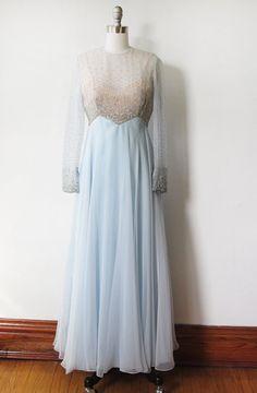 1960s chiffon gown