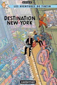 Tintin in New York Comics Story, Bd Comics, Batman Comic Art, Batman Comics, Tin Tin Cartoon, Album Tintin, Atlas Book, Herge Tintin, Ligne Claire