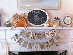 Simple Halloween decor.