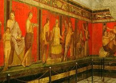 An ancient Roman fresco depicting the cult of Dionysus in the Villa of the Mysteries in Pompeii. Photo: The Art Archive / Gianni Dagli Ort
