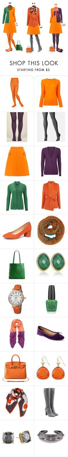 """Halloween Capsule - Orange Sweater and Orange Skirt 2"" by tracy-gowen ❤ liked on Polyvore featuring MM6 Maison Margiela, Avenue, Carven, Full Tilt, Viyella, Joseph, Dorothy Perkins, Latico, Monica Vinader and Akribos XXIV"