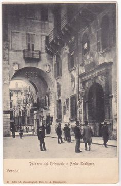VERONA - PALAZZO DEL TRIBUNALE E ARCHE SCALIGERE -50694- | Collezionismo, Cartoline, Paesaggistiche italiane | eBay!
