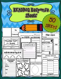 Reading Response Sheets: Comprehension Building Story Maps from Sweet Moments in Teaching! on TeachersNotebook.com -  (50 pages)  - 50 Reading Response Templates to use with any book!