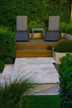 Contemporary Patio by Art in Green