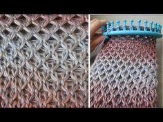 Diamond Stitch : Zomerse sjaal in Diamant steek (english notes) - YouTube