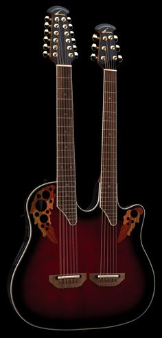 Ovation RRB Double Neck Acoustic Electric Guitar I want one of these. Guitar Shop, Music Guitar, Cool Guitar, Playing Guitar, Guitar Case, Unique Guitars, Custom Guitars, Vintage Guitars, Fender Guitars