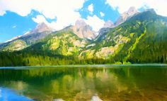 I uploaded new artwork to fineartamerica.com! - 'Grand Teton National Park' - http://fineartamerica.com/featured/grand-teton-national-park-lanjee-chee.html via @fineartamerica