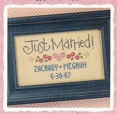 Just Married - Cross Stitch Pattern
