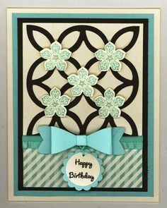 """Carlene Prichard: ChatterboxCreations.blogspot-1.com - """"Another April Birthday to Celebrate!"""" - 4/11.15. See BLOG for recipe, inside view, and more information. (Pin#1: Chatterbox Re-Creations. Pin+: Flowers: SU-3D/ Dies)."""