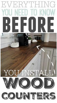 So many great tips! This really has a lot of points that everyone who might be considering wood kitchen counters should read! So many great tips! This really has a lot of points that everyone who might be considering wood kitchen counters should read! Kitchen Redo, Kitchen Cabinets, Kitchen Ideas, Wood Counter Tops Kitchen, Buther Block Counter Tops, Kitchen Countertop Redo, 10x10 Kitchen, Soapstone Kitchen, Kitchens