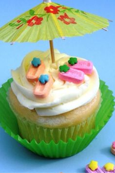 One tropical cupcake | cupcakes | Pinterest