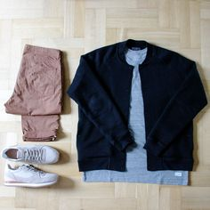 Outfitgrid - Norse Projects pants / COS jacket / Stampd tee / Vans x Taka Hayashi shoes