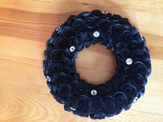 Rose Paper Wreath - hand made to order