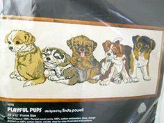 Sealed 1978 Dimensions Playful Pups Crewel Kit Dogs 100% Wool Linda K. Powell Dimensions http://www.amazon.com/dp/B00VMPGGSM/ref=cm_sw_r_pi_dp_5AYhvb0PBJBED
