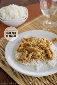 Slow Cooker Chicken Teriyaki - This easy recipe for chicken teriyaki comes together with very little hands on time - while you let the slow cooker do all the work!