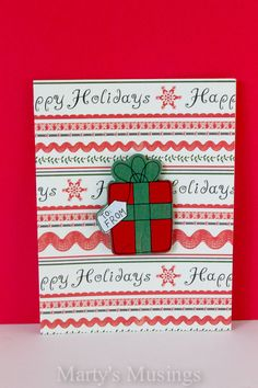 Try these easy and inexpensive 5 Minute Christmas Cards to add a touch of homemade to your holiday season. Even a non-crafter can make these!