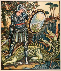 michaelmoonsbookshop:  Illustration by Walter Crane from Princess Belle Etoile 1909