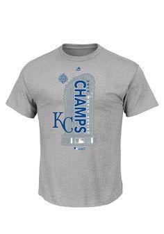 23fb06b4c KC Royals Mens Steel 2015 World Series Champs Locker Room Tee - 17256962