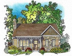 Tidy Northwest Cottage House Plan - 22122SL | 1st Floor Master Suite, Bungalow…