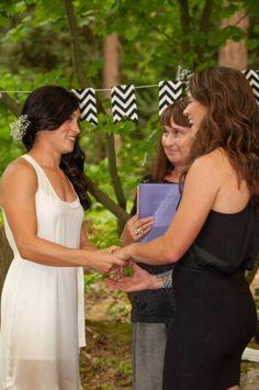 Ella Masar & Erin McLeod #lesbians #wedding