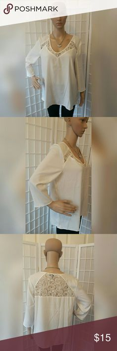 White Express blouse top shirt White Express blouse top shirt   Excellent condition no flaws   Material content  Shell: 98% polyester 2% spandex  Trim: 100% nylon  Measurements approx  Chest 42in  Sleeve 11.5in Length 26.5in Express  Tops Blouses