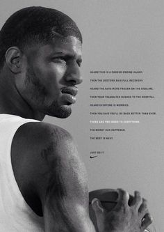 """Paul George """"the best is next"""""""