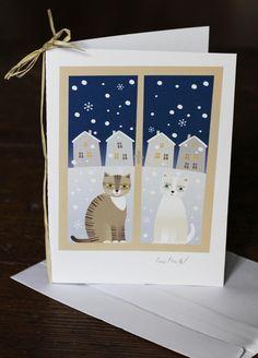 """Vánoční přání \""""Kočičí zima\"""" Pusheen, Adult Coloring, Diy And Crafts, Champagne, Christmas Cards, Projects To Try, Collage, School, Frame"""