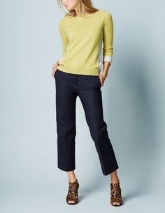 Richmond Wide Crop Pant WM410 Clothing at Boden