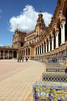 Travel Inspiration for Spain - Plaza de España - Spanish Square, Seville, Spain