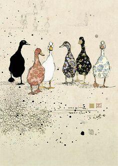 Painting Inspiration, Art Inspo, Duck Wallpaper, Animal Wallpaper, Arte Peculiar, Bug Art, Illustration Art, Illustrations, Fabric Art