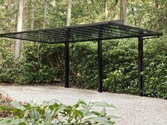 Modern Carport, Modern Gazebo, Solar Car, Solar Roof, Carport Garage, Carport Ideas, Car Shed, Garden Pavilion, Pergola Shade
