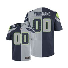 Men's Nike Seattle Seahawks Customized Elite Team Alternate Two Tone NFL Jersey http://www.wholesalejerseyclearance.com/seattle-seahawks-jerseys_gc152_1_15.html