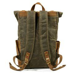 506c3aaca5978 Men Vintage Canvas Casual Travel Large Capacity Waterproof Commuter Bag  Backpack