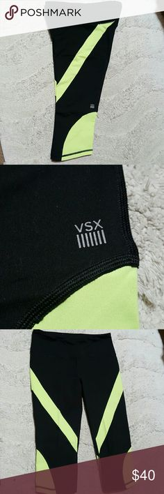 Victoria's Secret Sport Knockout Crop Victoria's Secret Sport Knockout Crops - perfectly good condition! No pilling or pulling or stains or fading. Probably worn 3 or 4 times. Victoria's Secret Pants Leggings