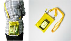 Small Neon Yellow Clear Transparent Iphone Crossbody Bag   Please visit us at www.etsy.com/shop/Trixiesky   to see more of our wonderful products.