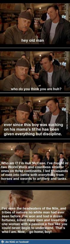 Secondhand lions Love this movie! Great scene. One of my favorite performances by Robert Duvall. He is amazing.
