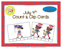 Practice counting 1 to 20 with July 4th.