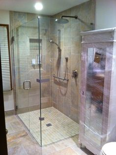 We Are Seeing More Barrier Free Lications With The Whole Aging In Place Movement This Frameless Seamless Shower Enclosure Has And