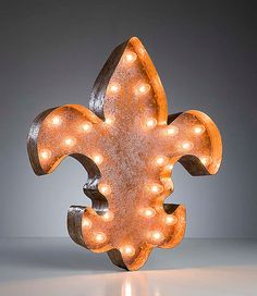 Vintage Marquee Lights - Ready to Ship - Fleur de lis on Etsy, $229.00
